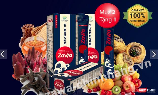 Thực phẩm bảo vệ sức khỏe Zawa (Ảnh chụp màn hình từ website zawa-chinhhang.vn)