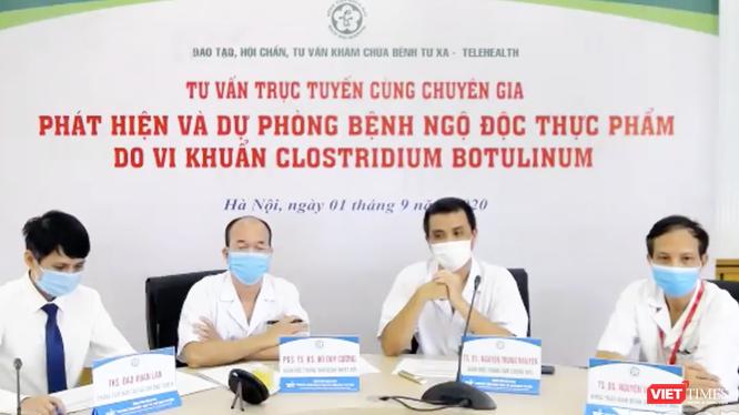 Buổi tư vấn trực tuyến nhằm phát hiện, dự phòng bệnh ngộ độc thực phẩm do vi khuẩn Clostridium botulinum diễn ra vào chiều nay (1/9) (Ảnh: Minh Thúy - nguồn: https://www.facebook.com/watch/tdcbachmai)