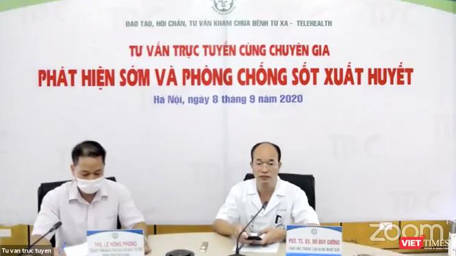 Bệnh viện Bạch Mai tổ chức tư vấn trực tuyến phát hiện sớm và phòng, chống sốt xuất huyết (Ảnh: Minh Thúy - nguồn: FB BV Bạch Mai)