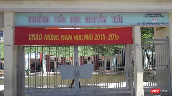 Trường Tiểu học Nguyễn Trãi (Ảnh: facebook Trường Tiểu học Nguyễn Trãi)