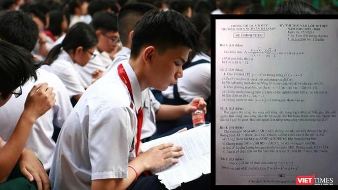 Đề thi chính thức giống với đề thi thử