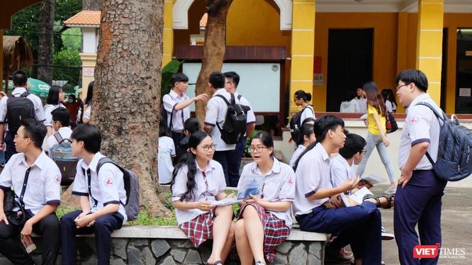 Thí sinh tham dự kỳ thi THPT quốc gia 2019