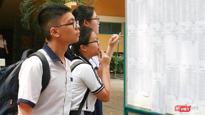 Thí sinh dự thi kỳ thi tuyển sinh vào lớp 10 năm học 2019-2020