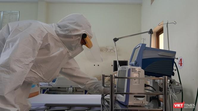 BV Dã chiến đã sẵn sàng 300 giường bệnh chống virus Covid - 19. Ảnh: Nguyễn Trăm
