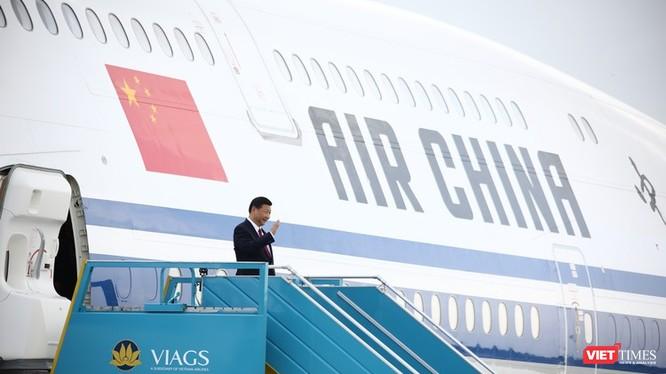 Máy bay chở Chủ tịch Trung Quốc Tập Cận Bình đã đáp xuống sân bay Đà Nẵng