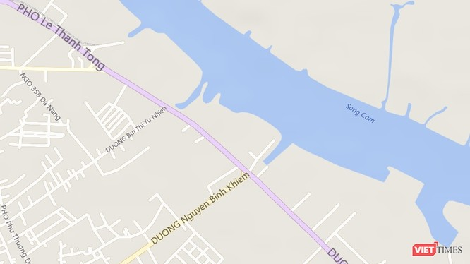 Vị trí Hải Phòng muốn làm hầm đường bộ vượt sông. Ảnh: Maps
