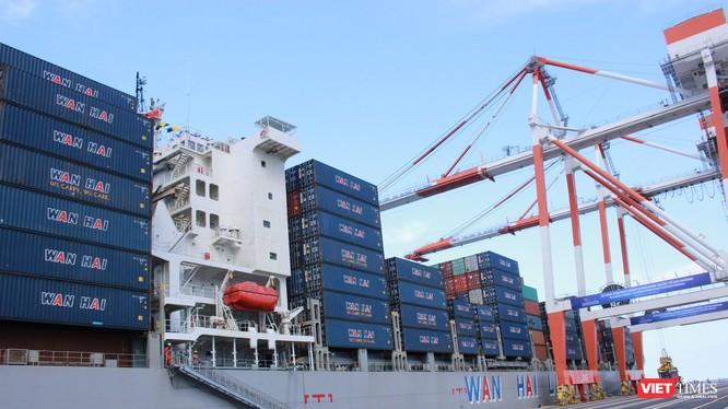 Chuyến tàu đầu tiên vào làm hàng tại cảng HITC tại Lạch Huyện của Hải Phòng ngày 13/5/2018. Ảnh: Thanh Tân