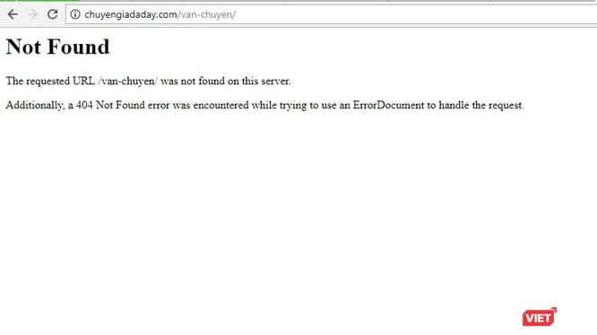 website http://chuyengiadaday.com đã không truy cập được.