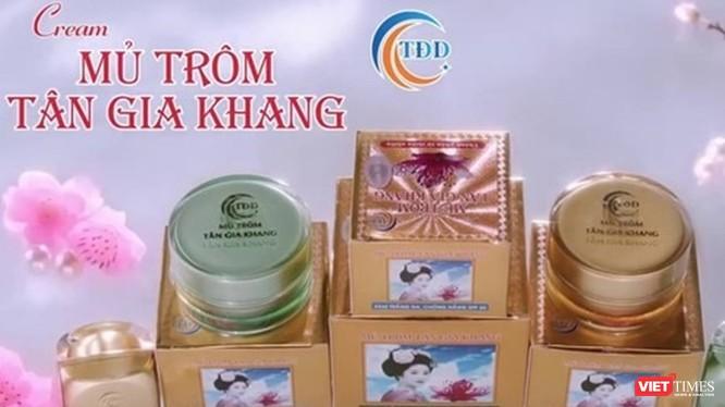 Sản phẩm cream mủ trôm Tân Gia Khang bị buộc thu hồi.