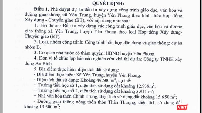 Trích văn bản của Bắc Ninh.