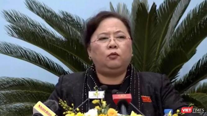 Chủ tịch HĐND TP Hà Nội, Nguyễn Thị Bích Ngọc.