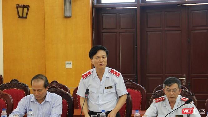 Ông Bùi Ngọc Lam, Phó Tổng Thanh tra Chính phủ đã chủ trì buổi công bố quyết định kiểm tra việc điều chỉnh giá điện/ Ảnh: Hoàng Linh