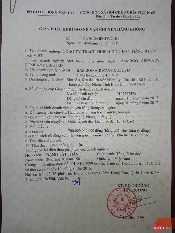 Chính thức: Bamboo Airways đã được cấp phép bay ảnh 1