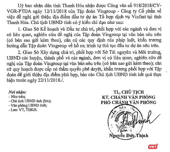 Sau Hải Phòng, Vingroup muốn làm thêm tổ hợp VinFast ở Thanh Hóa ảnh 1