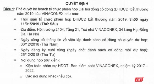 """Trả xong tiền, An Quý Hưng đề nghị Vinaconex tổ chức ĐHĐCĐ bất thường: Đưa người vào """"làm chủ"""" ảnh 1"""