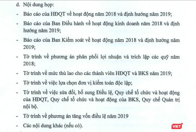 Vietcombank chốt danh sách dự họp ĐHĐCĐ thường niên 2019, tiếp tục trình phương án tăng vốn ảnh 1