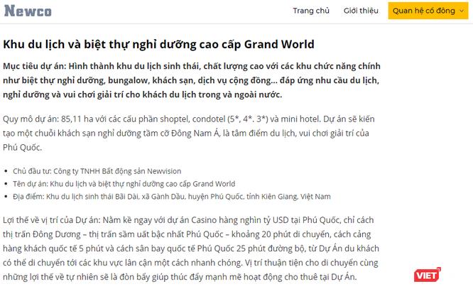 Lần vết 7.500 tỷ đồng đổ vào Grand World Phú Quốc ảnh 1