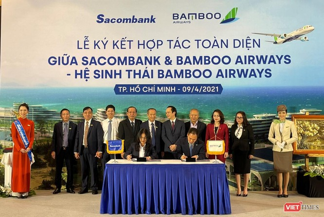 """Sacombank - Bamboo Airways hợp tác toàn diện: """"Hai thương hiệu - Triệu giá trị"""" ảnh 1"""