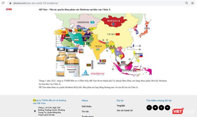 SB Vina: DN 'lạ' trong kế hoạch đem 50 triệu liều vắc xin Moderna về Việt Nam của Vimedimex ảnh 2