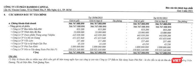 'Của để dành' nửa nghìn tỉ của Bamboo Capital ảnh 1