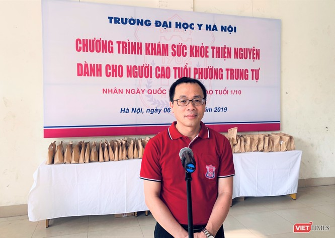GS.TS. Tạ Thành Văn – Hiệu trưởng Trường Đại học Y Hà Nội - cho biết nhà trường luôn quan tâm đến công tác thiện nguyện dành cho người cao tuổi