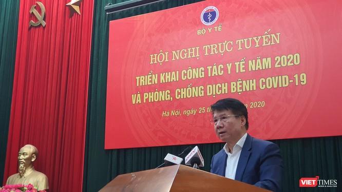 Thứ trưởng Bộ Y tế Trương Quốc Cường thông báo tình hình chuẩn bị thuốc, vật tư, trang thiết bị y tế phòng dịch COVID-19