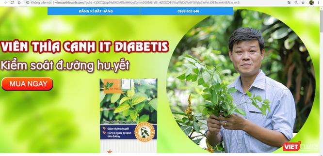 Cảnh giác với thuốc tiểu đường mạo danh nhà khoa học Trần Văn Ơn bán trên mạng ảnh 1