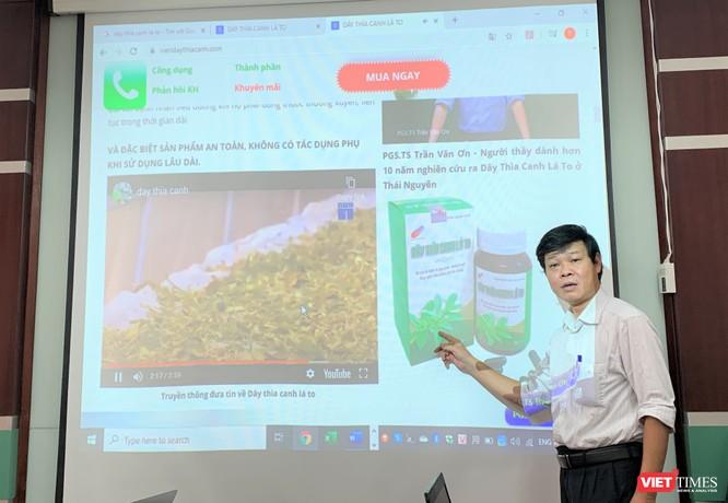 """PGS. TS Trần Văn Ơn: 'Tôi không bán trực tiếp bất kỳ sản phẩm thực phẩm chức năng hay tư vấn gì liên quan đến điều trị bệnh tiểu đường"""""""