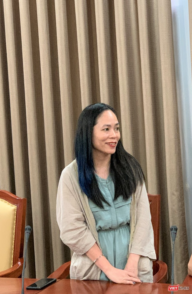 Chị Nguyễn Thúy Hà -- thành viên nữ duy nhất của Tổ công tác - cam kết sẽ không phụ lòng tin của lãnh đạo
