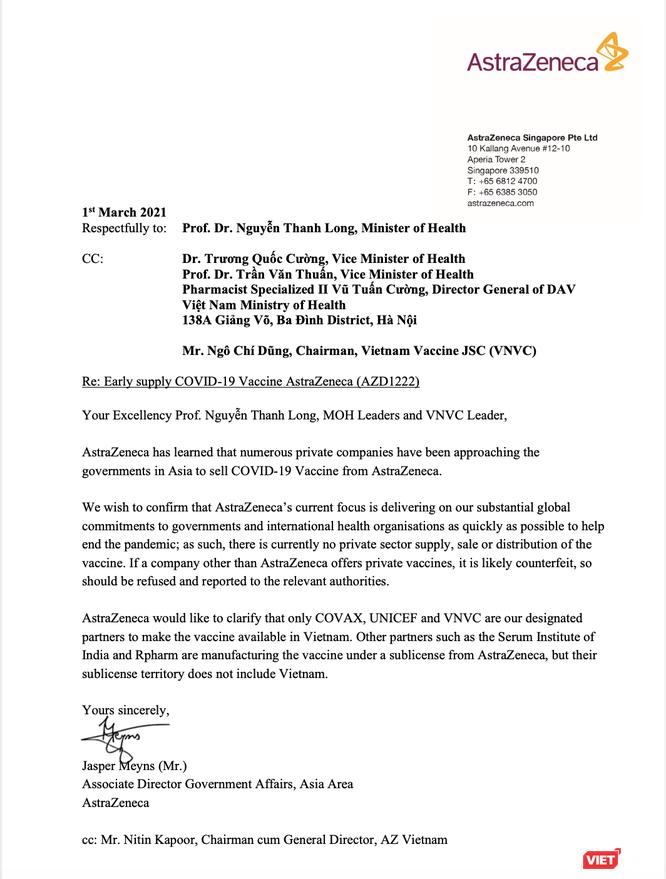 Sự thật về vaccine AstraZeneca mới tiêm ở Việt Nam: của VNVC nhập khẩu hay do WHO cung cấp? ảnh 2