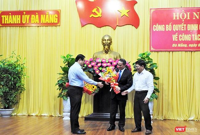 Bí thư Thành ủy Đà Nẵng Trương Quang Nghĩa tại buổi công bố quyết định