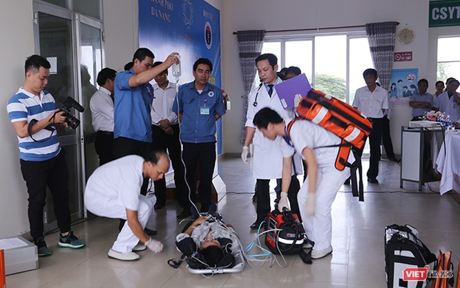 Đà Nẵng diễn tập y tế ứng phó cấp cứu phục vụ APEC ảnh 14