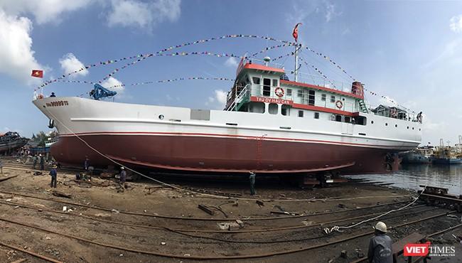 Đà Nẵng: Hạ thủy tàu dịch vụ hậu cần nghề cá vỏ thép lớn nhất miền Trung ảnh 2