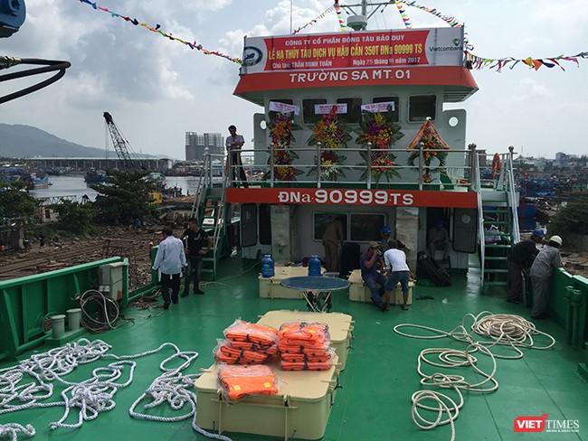 Đà Nẵng: Hạ thủy tàu dịch vụ hậu cần nghề cá vỏ thép lớn nhất miền Trung ảnh 3