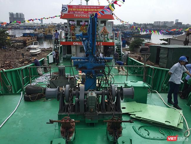 Đà Nẵng: Hạ thủy tàu dịch vụ hậu cần nghề cá vỏ thép lớn nhất miền Trung ảnh 4