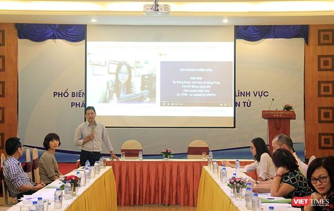 Hội thảo Phổ biến văn bản quy phạm pháp luật trong lĩnh vực thông tin điện tử do Cục Phát thanh truyền hình và thông tin điện tử (Cục PTTH&TTĐT), Bộ TT & TT tổ chức tại Đà Nẵng trong ngày 26/10.