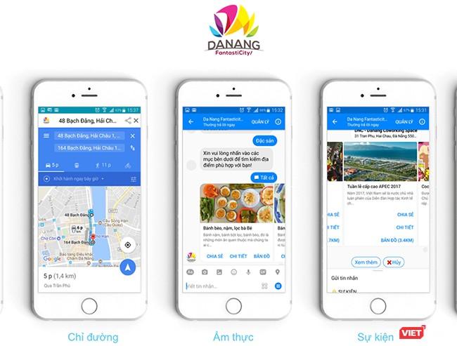 Ứng dụng có thể cung cấp tất cả các thông tin du lịch cho du khách bằng hệ thống trả lời tự động như chat messenger
