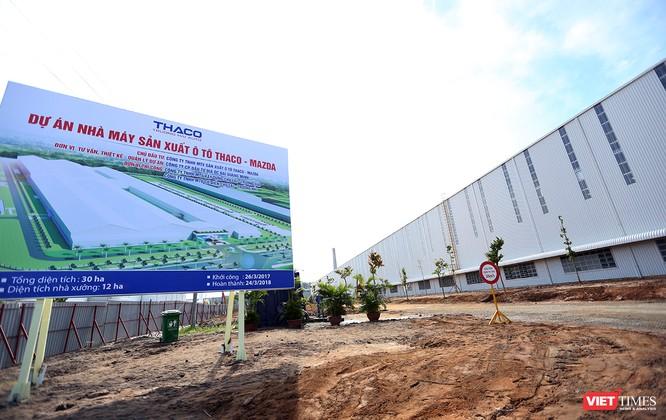 Cận cảnh thi công nhà máy sản xuất ô tô Mazda 12.000 tỷ của Thaco ảnh 1