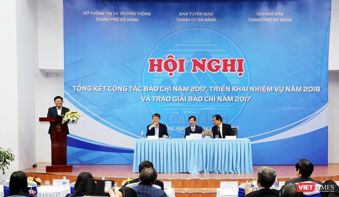 Ông Võ Công Trí, Phó Bí thư Thường trực Thành ủy Đà Nẵng phát biểu tại Hội nghị