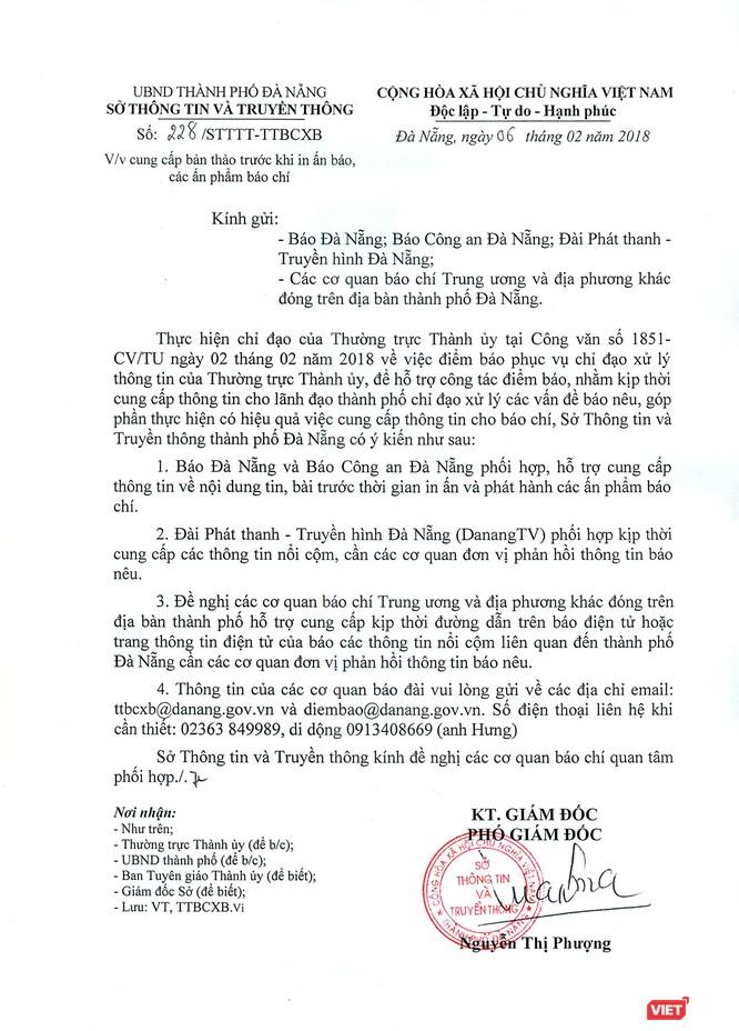Công văn 228/STTTT-TTBCXB của Sở TT-TT TP Đà Nẵng