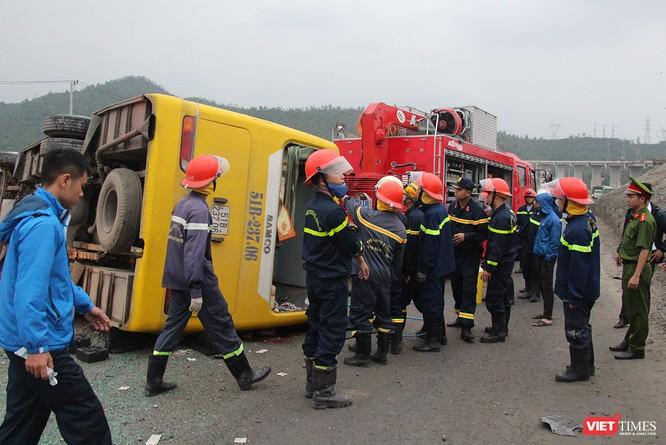 Lực lượng cứu hộ đang làm nhiệm vụ