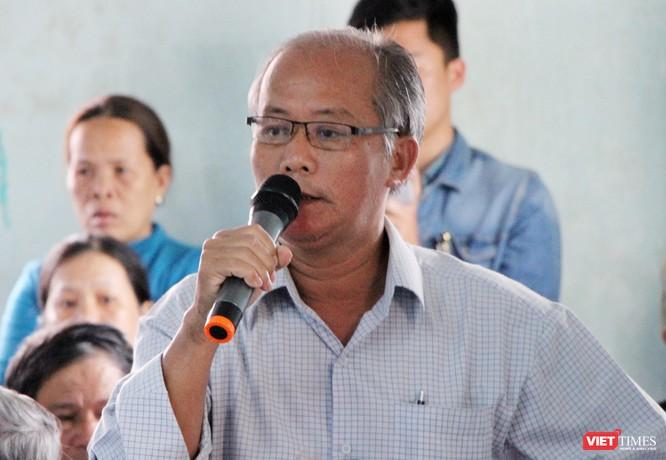 Ông Nguyễn Thành Lợi-người dân thôn Vân Dương ý kiến tại buổi đối thoại