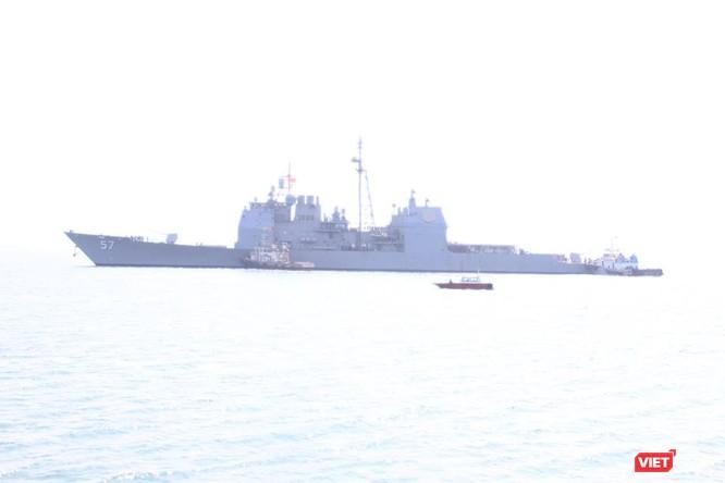Sức mạnh của tuần dương hạm hộ tống siêu hàng không mẫu hạm đến Đà Nẵng ảnh 6