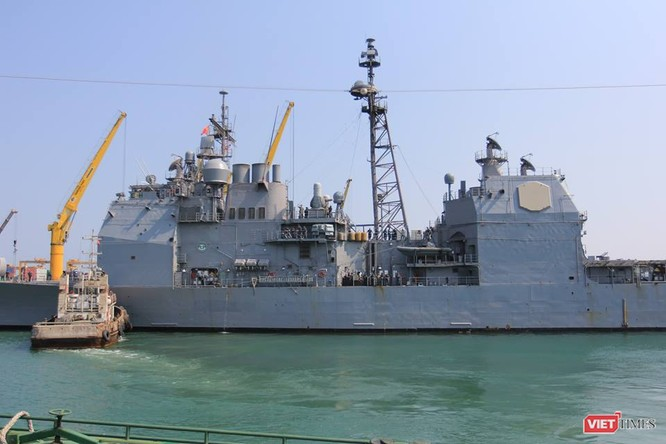 Sức mạnh của tuần dương hạm hộ tống siêu hàng không mẫu hạm đến Đà Nẵng ảnh 7