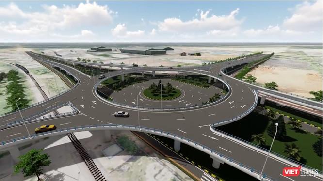 Phối cảnh nút giao thông 2 tầng trị giá 600 tỷ do Thaco đầu tư và tài trợ cho tỉnh Quảng Nam