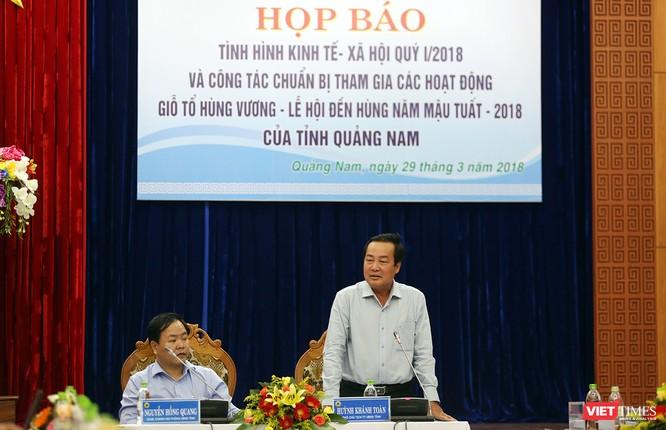 Ông Huỳnh Khánh Toàn, Phó Chủ tịch UBND tỉnh Quảng Nam thông tin về vụ phá rừng phòng hộ sông Kôn trên địa bàn huyện Đông Giang
