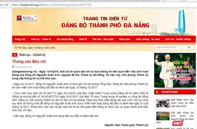 Ông Nguyễn Xuân Anh được miễn sinh hoạt Đảng từ tháng 12/2017 để điều trị bệnh ảnh 1