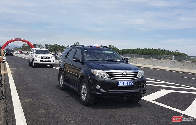 Chính thức thông xe cao tốc Đà Nẵng - Quảng Ngãi dài 139 km, không phục vụ xe máy, tạm thời chưa thu phí ảnh 1