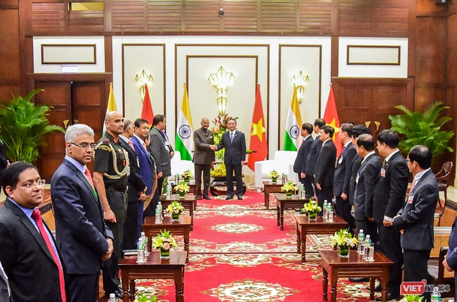Tổng thống Ấn Độ đến Đà Nẵng, thăm Bảo tàng điêu khắc Chăm ảnh 1