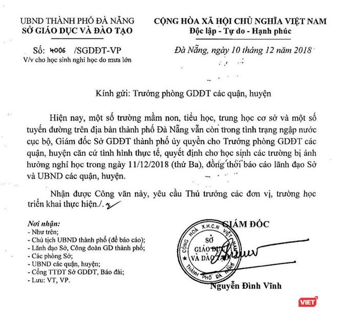 Mưa lớn tái diễn, Đà Nẵng lại chìm trong nước: Hoãn họp HĐND, tiếp tục cho học sinh nghỉ học ảnh 1